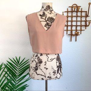 Zara Basic Brown Crop Top